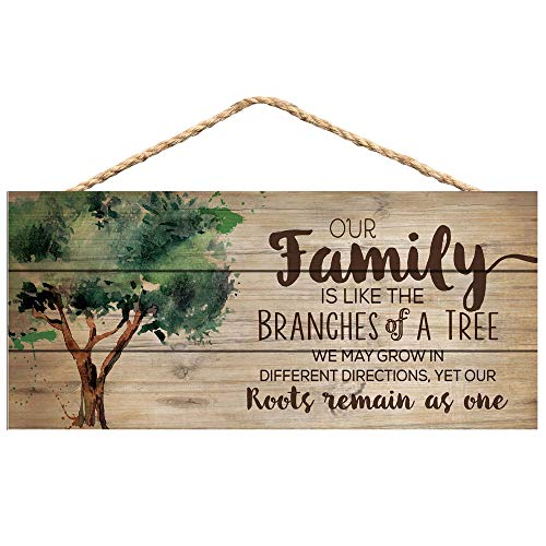 P Graham Dunn Our Family Like Branches On A Tree 5 X 10 Wood Plank Design Hanging Sign