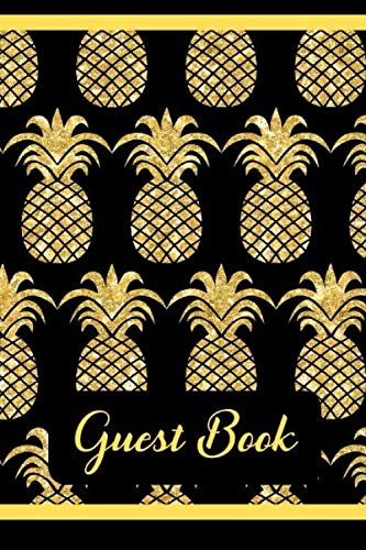 Guest Book: Black & Gold Tea Party Sign-In Book by Passion Fruit Guest Books
