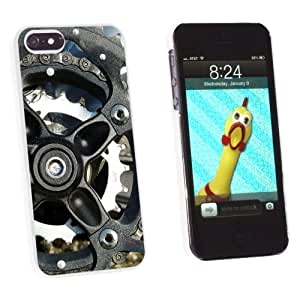 Graphics and More Bicycle Bike Gears Wheels - Snap-On Hard Protective For Ipod Touch 4 Phone Case Cover - Non-Retail Packaging - White
