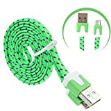 Aobiny 1M V8 Micro USB Charging Data Cable For Samsung Galaxy S7 Edge (Green)