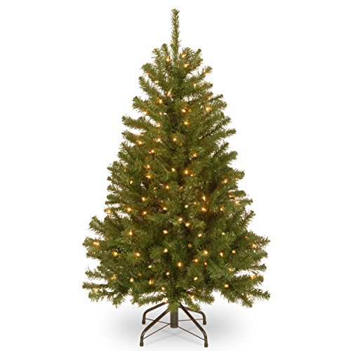 National Tree 6.5 Foot North Valley Spruce Tree with 450 Clear Lights, Hinged (NRV7-300-65)