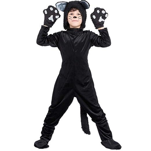 GUAN Disfraz de Disfraces de Halloween Animal Negro Gato Disfraz ...