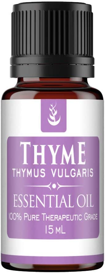 Thyme Essential Oil (15 ml) by Pure Ingredients, Convenient Dropper Cap Bottle, Food Safe, Helps Support The Immune System*, Warm, Herbaceous Aroma with Spicy Undertones