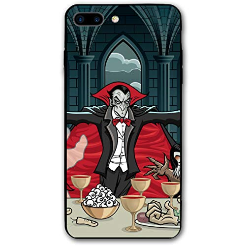 Halloween Dracula Vampire Characters Skull iPhone 8 Plus Case, iPhone 7 Plus Case, Ultra Thin Lightweight Cover Shell, Anti Scratch Durable, Shock Absorb Bumper Environmental Protection Case Cover -