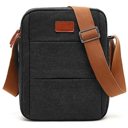 CoolBELL Messenger Bag iPad Carrying Case Handbag Tablet Briefcase Oxford Cloth Shoulder Bag Fits 10.6 Inches Tablet/iPad for Men/Women/College/Teen (Canvas Black)