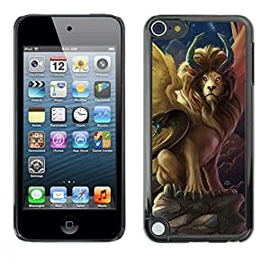 Shell-Star Arte & diseño plástico duro Fundas Cover Cubre Hard Case Cover para Apple iPod Touch 5 ( Lion Snake Ancient Symbols Now Moon )