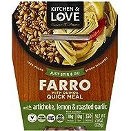 Kitchen & Love Artichoke, Lemon, and Roasted Garlic Farro Quick Meal, Single
