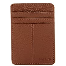 Cole Haan Pebble Leather Wallet With Emb Logo, Money Clip Accessory