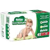 Huggies Eco Natural Pañales Ecológicos para Bebé, Etapa 3, 40 Piezas