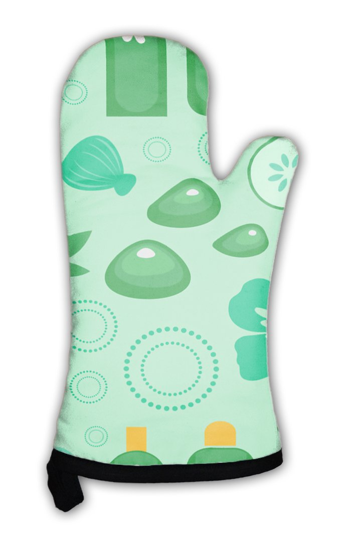 Gear New Oven Mitt, Spa Pattern, GN26433
