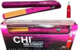 "Chi 1"" inch Flat Iron Original Pink Stardust Limited Edition Ceramic Flat iron for silky smooth hair. Straighten, Curl, Flip, Style with FREE iron guard included in the box."