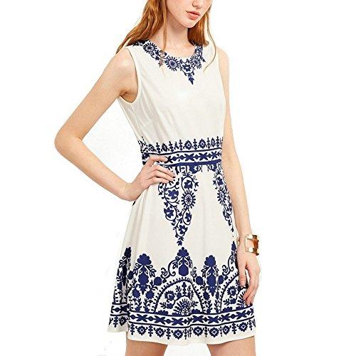 Dreamskull Kleid Damen Fraunen Mädchen Sommer Gesundes Gewebe Ärmellos  Elegant Partykleid Cocktailkleid Knielang Blauweißes Porzellan  Amazon.de   Bekleidung a1ba5d2a5c
