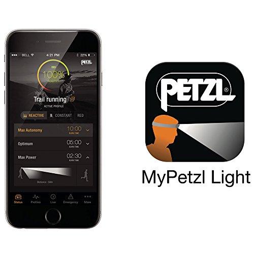 Petzl - REACTIK+ Headlamp, 300 Lumens, Bluetooth Enabled, Orange by PETZL (Image #7)