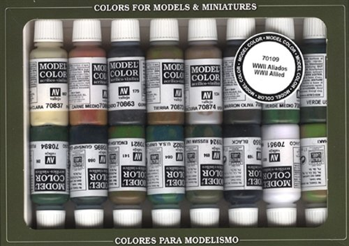 Vallejo WWII Allied Forces Paint Set #9, 17ml ()