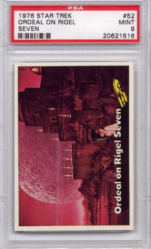 1976 Star Trek - Ordeal On Rigel Seven #52 PSA 9 MINT (Non-Sports Cards)