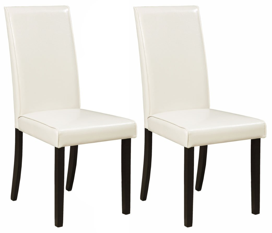 Ashley Furniture Signature Design - Kimonte Dining Room Chair - High Back - Contemporary - Set of 2 - Ivory