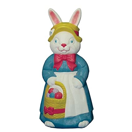 Amazon Com Mrs Rabbit Easter Bunny Light Up Blow Mold Home Decor