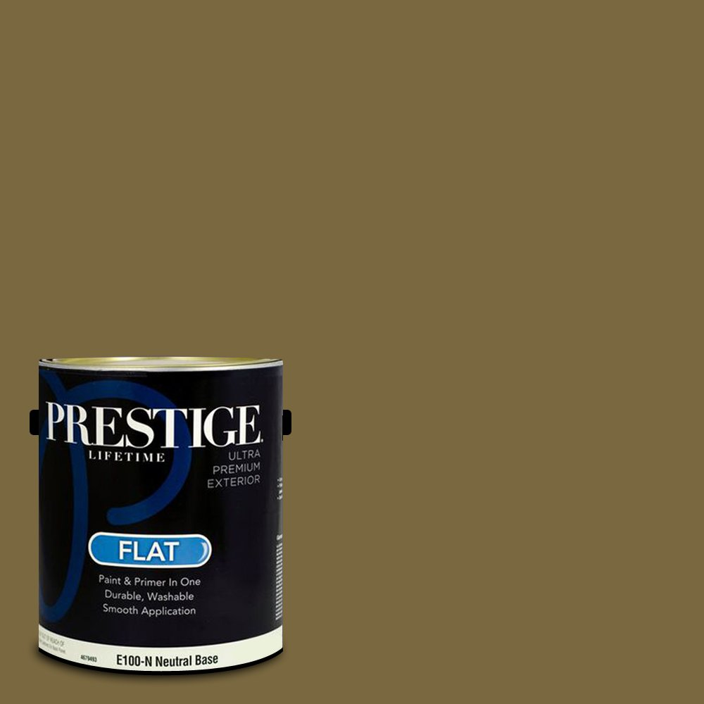 Prestige Paints Exterior Paint and Primer In One, 1-Gallon, Flat,  Comparable Match of Sherwin Williams Eminent Bronze