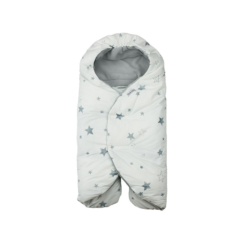 7 A.M. Enfant Nido Quilted (Print White Stars, Large)