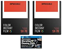 Impossible PRD4512 Color Glossy Film for Polaroid SX70 Cameras - 2 Pack