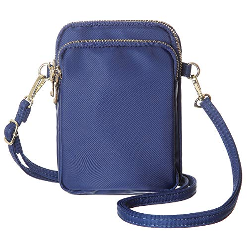 MINICAT Nylon Small Crossbody Bags Cell Phone Purse Smartphone Wallet For Women (Blue)