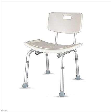 Laomao Aluminium Badestuhl Badstuhl Duschbank Schwangere Frauen Rutschfest Bad Stuhl Senioren Badezimmer Stuhl Einstellbare Ebene Amazon De Kuche Haushalt