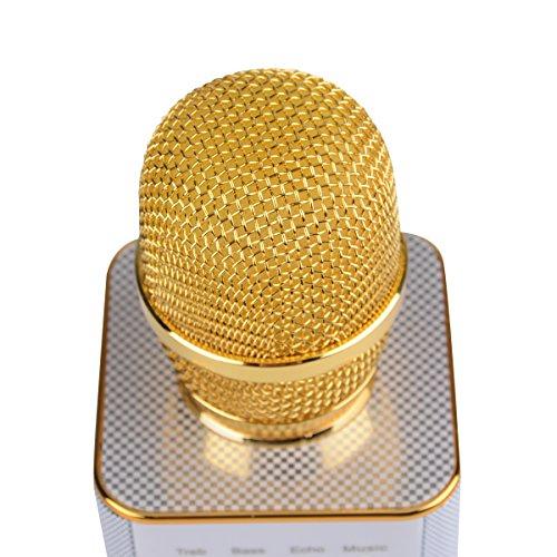 CkeyiN Portatile Senza Fili Del Microfono Di Karaoke Wireless Microphone Compatible con Android, IOS System Karaoke Per la Casa KTV