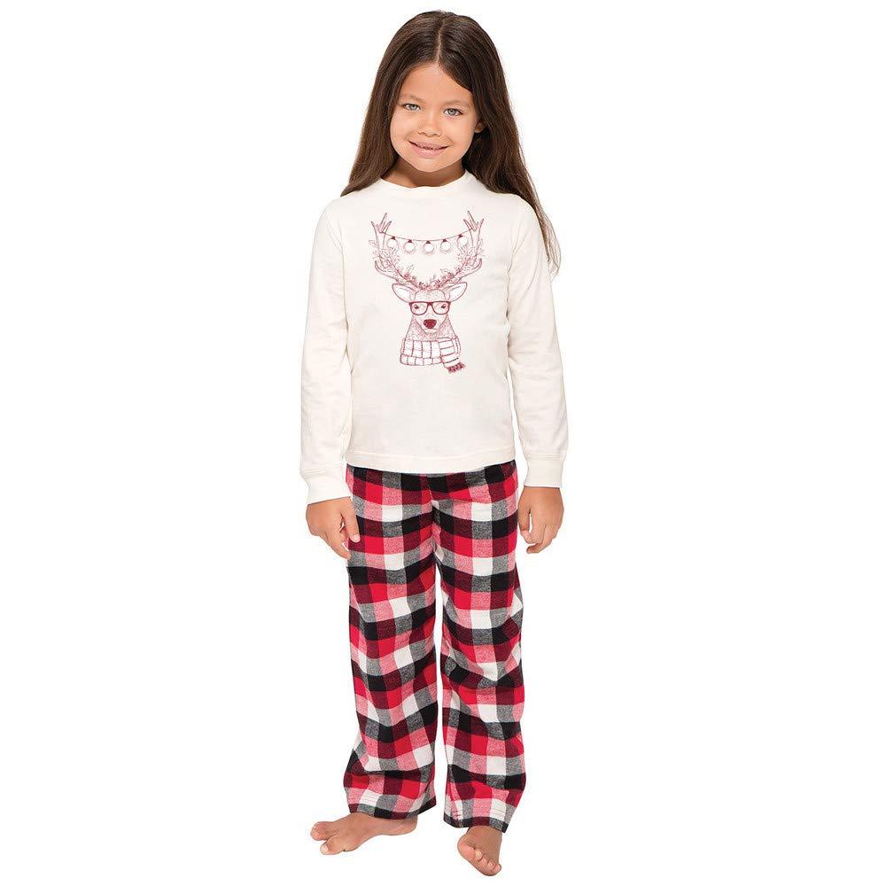 Amazon.com  Family Matching Christmas Pajamas Set -Deer Tops and Long Pants  Santa Sleepwear for Family  Clothing 56ff752ec