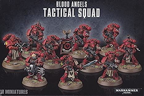 Games Workshop 99120101122/Blood Angels Tactical Squad Spielfiguren f/ür Tisch und Miniaturspiel.