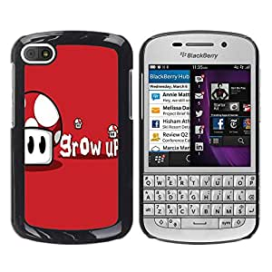 - Freaky Funny Pattern - - Hard Plastic Protective Aluminum Back Case Skin Cover FOR BlackBerry Q10 Queen Pattern