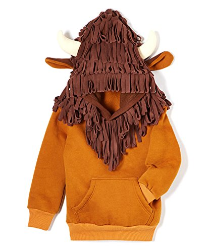 - Doodle Pants Boys' Buffalo With Hair Hoodie 18M Brown