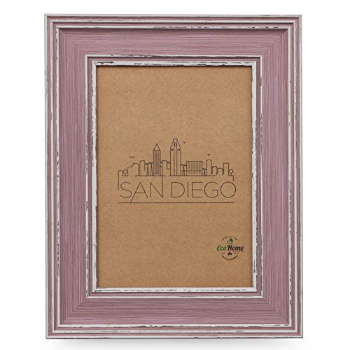 Victorian Rose Frame - 4x6 Picture Frame - Wall Mount or Desktop Display, Distressed Rose Frames by EcoHome
