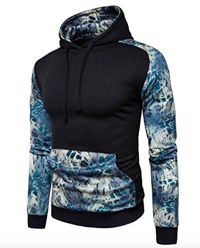 Sweatshirt Wslcn Veste Outerwear Noir Hoodie Manteau Pull À Pullover Imprimé Sport Homme Capuche Aq6UwvA