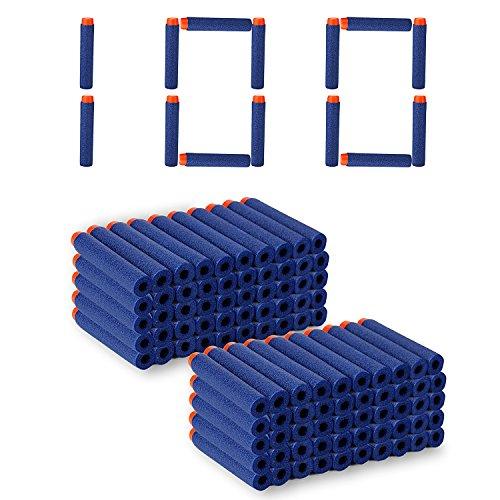 Nerf Compatible 100 Pcs 7.2cm Darts Soft Foam Bullets Kid Toy Gun Refill Pack Blue