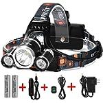 LED Headlamp, {5000 Lumens Max} 4 Mod...