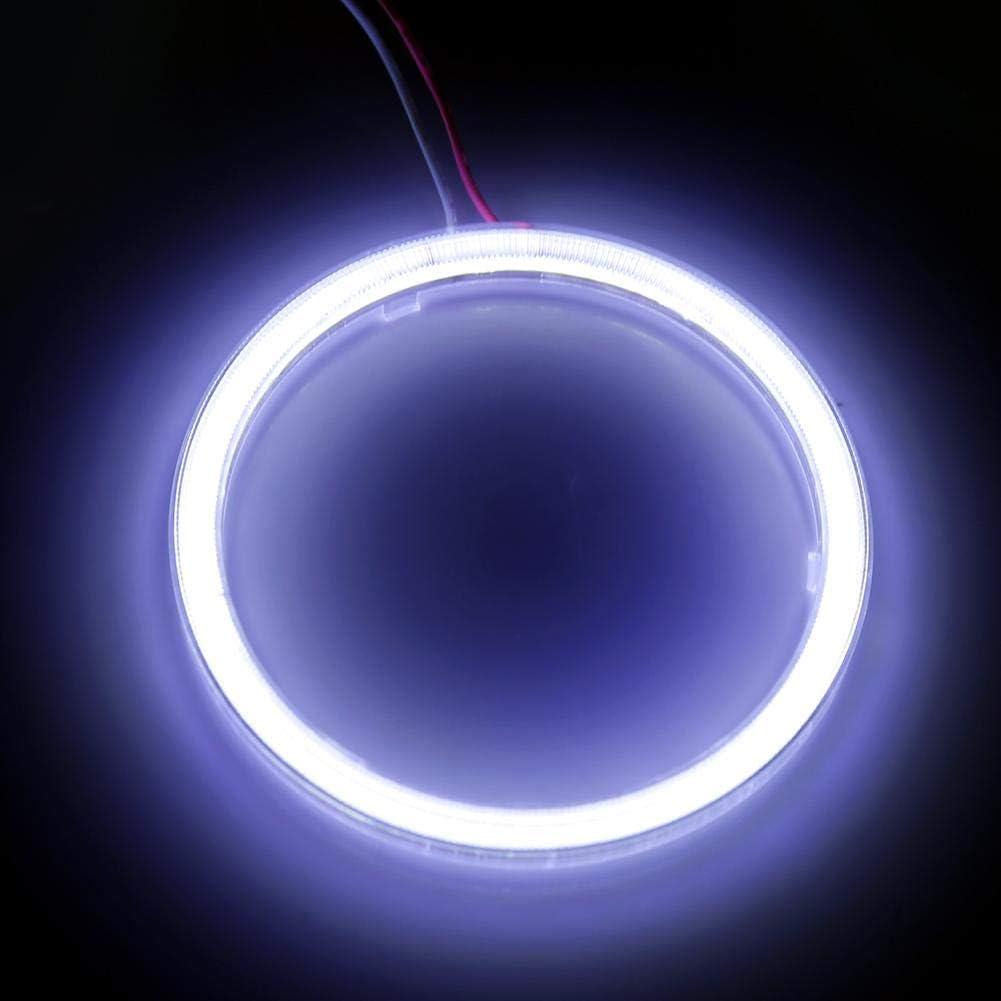 60mm Fydun COB Angel Eyes Headlight 1 Pair Auto Halo Rings Angel Eye COB Chips Headlight DRL LED 12V for Motorcycle Car