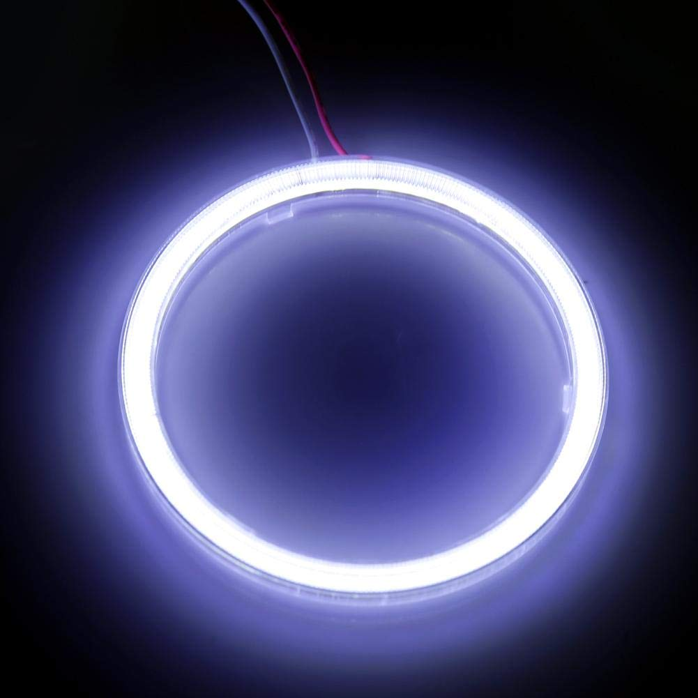 1 pair 110mm Auto Halo Rings Angel Eye COB Chips Headlight DRL LED Chips Car Light For Motorcycle Car