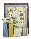 CoCo and Company Monkey Time 4 Piece Crib Bedding Set, Baby & Kids Zone