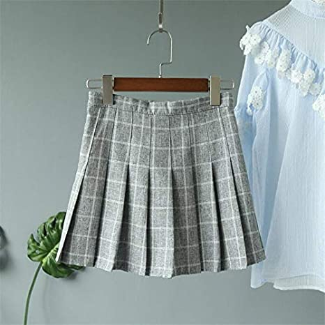 MIBKLPG Faldas para Mujer Mini Faldas Sólidas Faldas Plisadas De ...