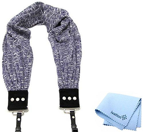 - Capturing Couture Cozy Denim Scarf Super Comfortable Camera Strap and a Bonus Ivation Spot Cleaning Cloth