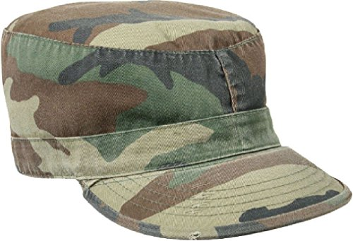 Vintage Military Fatigue Hat Fitted - US Army Uniform Patrol Cap Washed