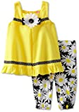 Good Lad Girls 2-6X Daisy Pique Legging Set, Yellow, 3T image