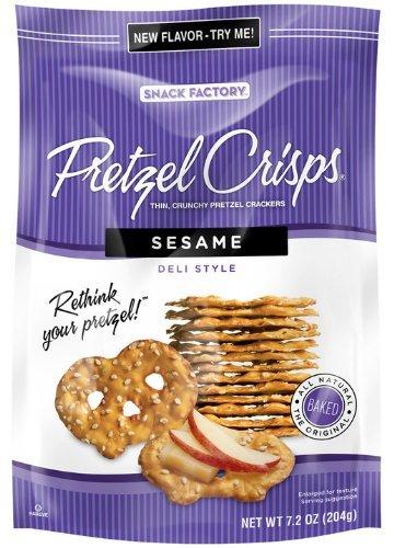 (Snack Factory, Pretzel Crisps, Sesame Deli Style, 7.2oz Pouch (Pack of 4))