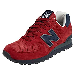 New Balance Men's US574XAD, RED/Navy, 6 D US