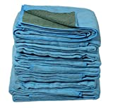 Vestil QPC-7280-VP Heavy Duty Quilted Moving Pad, Polyester with Cotton, 80'' Length, 72'' Width