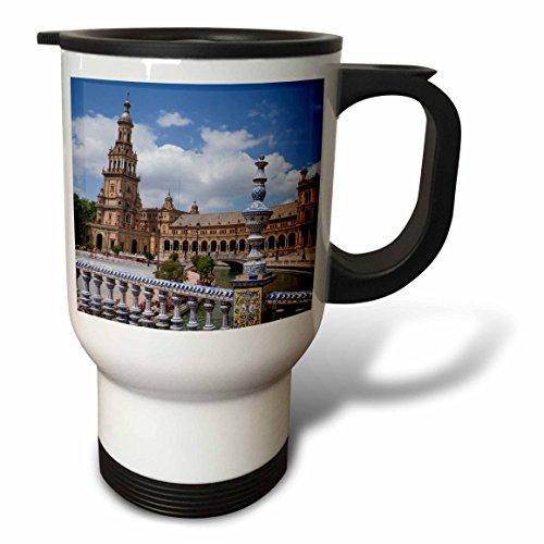 3dRose Danita Delimont - Spain - Spain, Andalusia, Seville. Plaza de Espana scenic. - 14oz Stainless Steel Travel Mug (tm_277897_1) by 3dRose