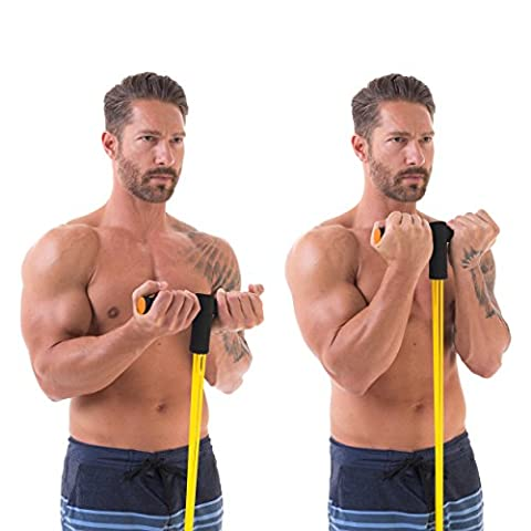 Total Resistance Fitness Band Home Workout Training System (Yellow - Medium Resistance) (At Home Workout Dvd)