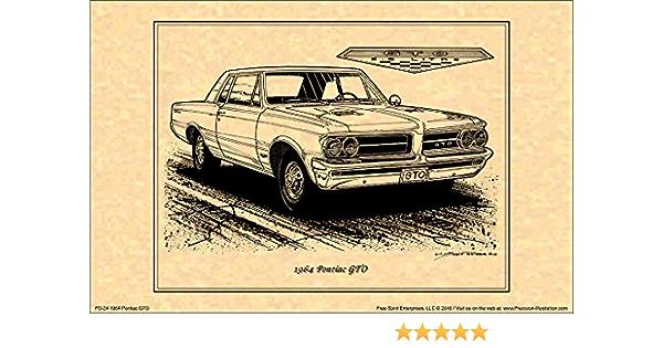 Pontiac GTO 2004-2006 Poster GTO Wall Art Gifts American Muscles Print