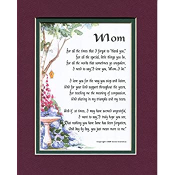 MOM A Touching Sentimental Mothers Day Present Poem 50th 60th 70th 80th Birthday 03