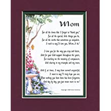 MOM A Touching Sentimental Mother's Day Present Poem 50th 60th 70th 80th Birthday #03, More Color Options